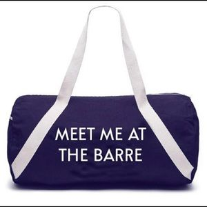 Meet me at the Barre gym bag